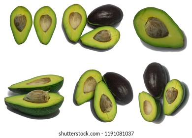 Avocado fruit of tropical isolate on white background