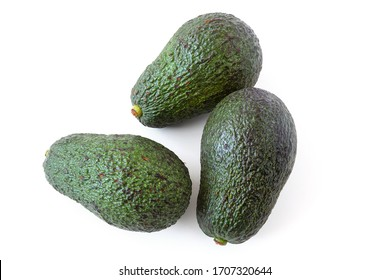 Avocado fruits on a white background