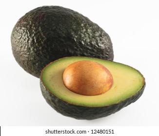 avocado half food vegetable isolated seed exotic