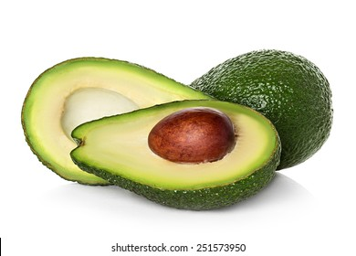 Avocado isolated on a white background.