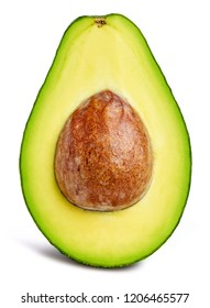 Avocado isolated on white Clipping Path