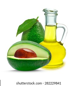 avocado oil isolated on a white background