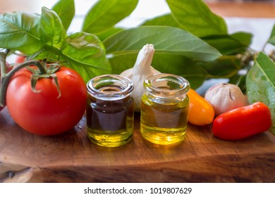 Avocado oil Tomato veggies oil display