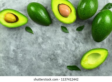 Avocado on stone background