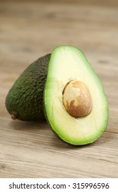 avocado on wooden background