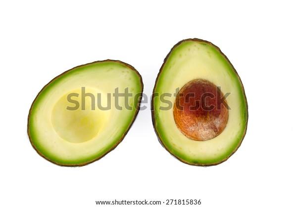 Avocado auf weißem Hintergrund