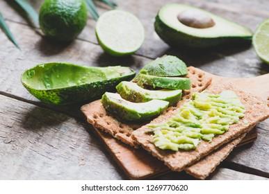 Avocado toast close up