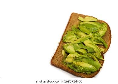 Avocado Toast isolated over white BG