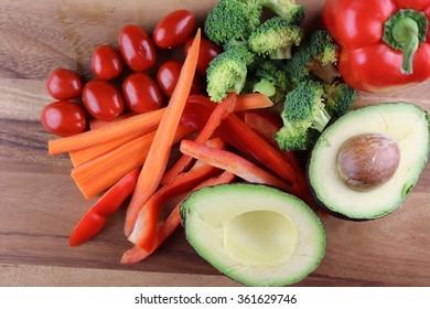 avocado vegetable tray