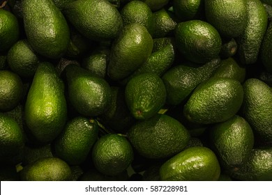 Avocados close up