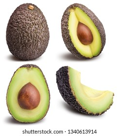 Avocados isolated on white background. Clipping path