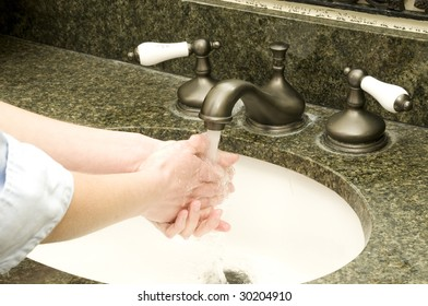avoid germs by always cleaning your hands
