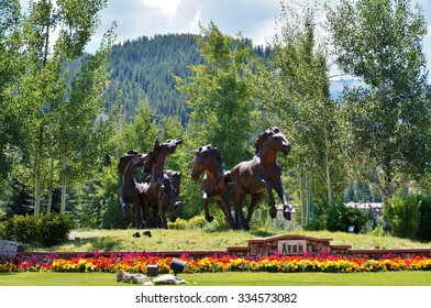 AVON, CO -19 AUGUST 2015- The mountain town of Avon is located in Eagle County, Colorado, close to the Beaver Creek ski resort.