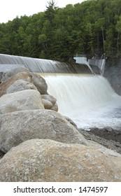 Avon River Dam on a spring day. (Nova Scotia)