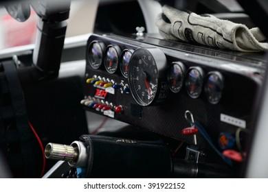 AVONDALE, AZ - MAR 11: cockpit of an Xfinity car at the NASCAR Xfinity Series Axalta 200 at Phoenix International Raceway in Avondale, AZ on March 11, 2016