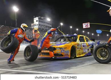 Avondale, AZ - Nov 12, 2016: Ricky Stenhouse Jr (60) makes a pit stop for the Ticket Galaxy 200 at the Phoenix International Raceway in Avondale, AZ.
