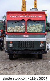 Avondale, PA, USA - June 24, 2018: A Food Truck filled with bread rolls for sandwiches at the annual Chester County Balloon Festival at the New Garden Flying Field in Toughkenamon.