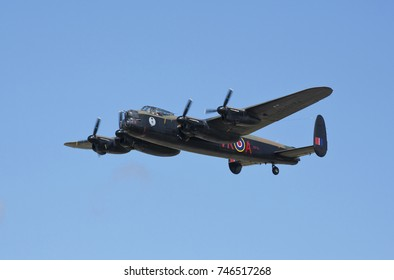 Avro Lancaster FM213 of Canadian Warplane Heritage over RAF Coningsby, England, 13th August 2014