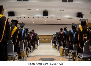 Award Ceremony for Graduates In the auditorium
