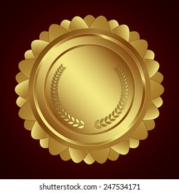 Award shield / medal / Badge isolated on background