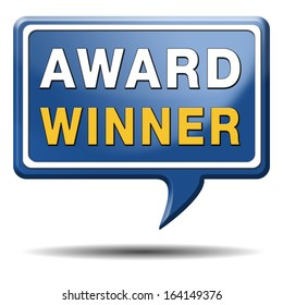 award winner best of the best top quality product button or icon
