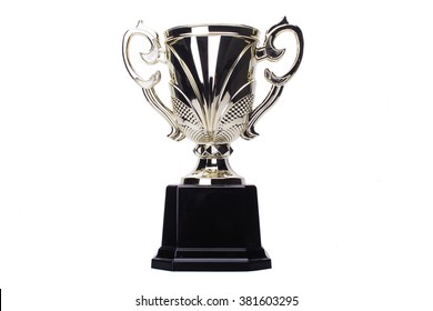 award winning trophy isolated in white background