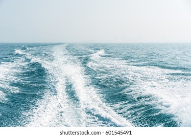 away, goodbye, waves from the boat