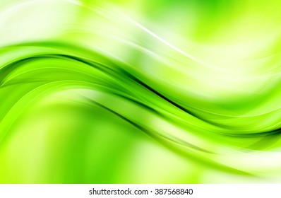 Awesome Abstract Green Wave Design