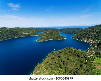 Awesome aerial view at Mljet island in Croatia