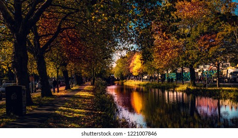 An awesome autumn landscape from Canal in Dublin.