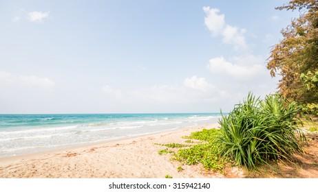 Awesome beach. Beautiful lonely beach near Ban Phe, Rayong, Thailand