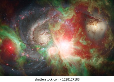 Awesome beautiful nebula somewhere in outer space. Elements of this image furnished by NASA
