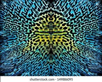 awesome Blue ditsy animal skin background