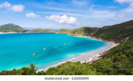 Awesome blue paradise clear water in the beach of Pontal do Atalaia - Arraial do Cabo, Rio de Janeiro, Brasil