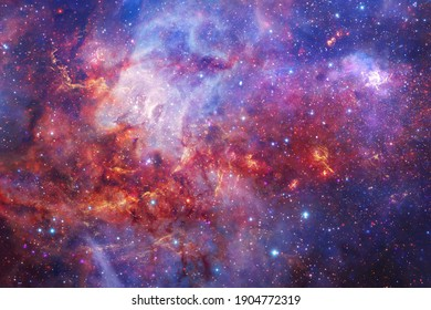 Awesome galaxy somewhere in outer space. Cosmic wallpaper. Elements of this image furnished by NASA - Shutterstock ID 1904772319