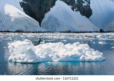 Awesome iceberg drifting in Antarctic waters