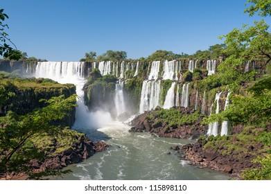 Awesome Iguazu waterfall in Angentina