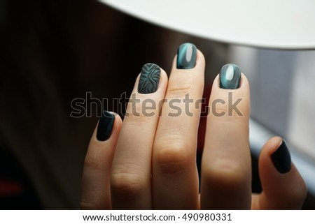 Awesome Nails Beautiful Clean Manicure Nails Stock Photo (Edit Now ...