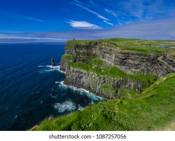 Awesome nature and landscape at the Cliffs of Moher in Ireland