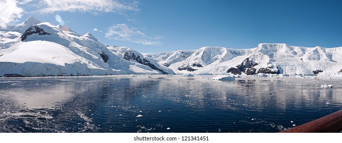 Awesome panorama in Antarctica, Paradise bay