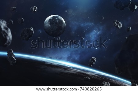 Awesome Picture Earth Moon Deep Space Stock Photo Edit Now