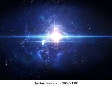 Awesome space background with the explosion of star. Elements of this image furnished by NASA.