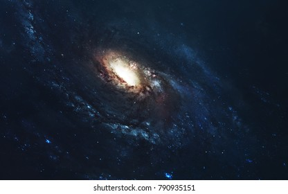 Awesome spiral galaxy. Deep space, beauty of endless cosmos. Science fiction wallpaper. Elements of this image furnished by NASA