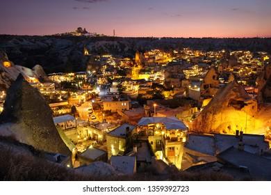 Awesome sunset in Goreme, Cappadocia. Turkey