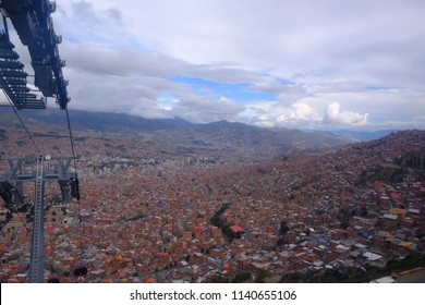 Awesome view of Lapaz, Bolivia. I took photo on the teleferico, main transportation of Lapaz.