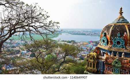 'Awesome view of Palani Town from the top of Palani Hill'