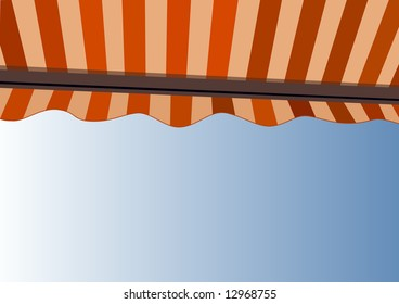 Awning over bright sunny blue sky - XXL