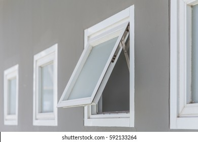 Awning Window Open Modern Home Aluminium Buildings Landmarks Stock Image 592133264