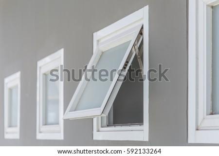 Awning Window Open Modern Home Aluminium Stock Photo Edit Now