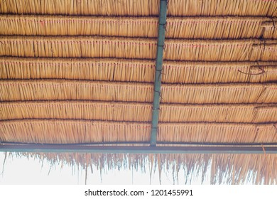 Awnings made from dried natural plants to protect the sun.